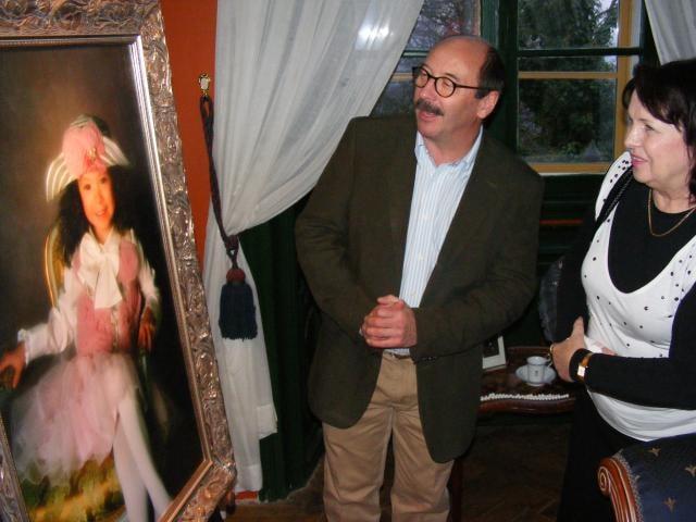 Jadran Šetlík otevřel na zámku portrétní galerii celebrit