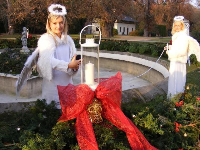 1. adventní neděle: strom přání a věnec z knihy rekordů