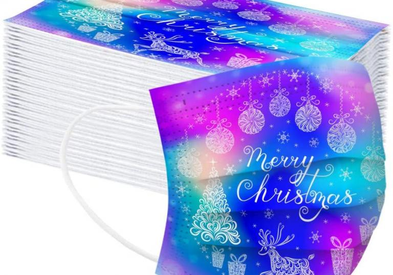 Bezpečné ubytování s hezkou vánoční rouškou